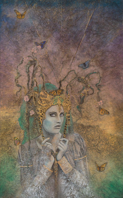 Chyrsalis_Evolutionary Art_Kimberly-Webber_Contemporary Symbolist Paintings_Magical Realism_Transcendental Art_Archetypal Visionary Artist_Taos New Mexico