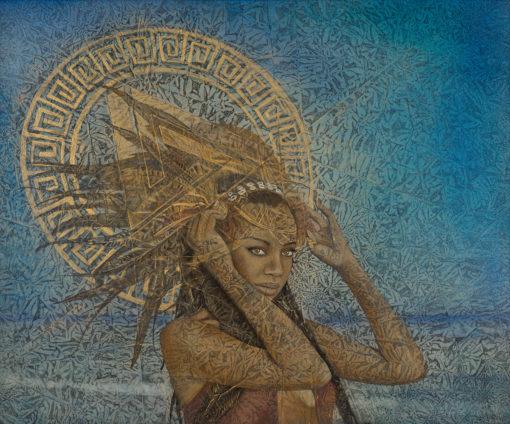 "Mera | 30"" x 36"" earth pigments, oil on panel"