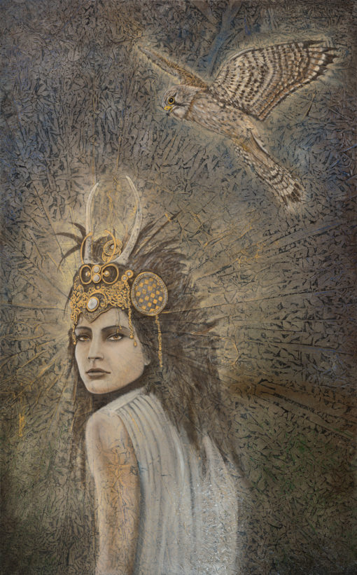 Messenger_Evolutionary Art_Kimberly-Webber_Contemporary Symbolist Paintings_Magical Realism_Transcendental Art_Archetypal Visionary Artist_Taos New Mexico