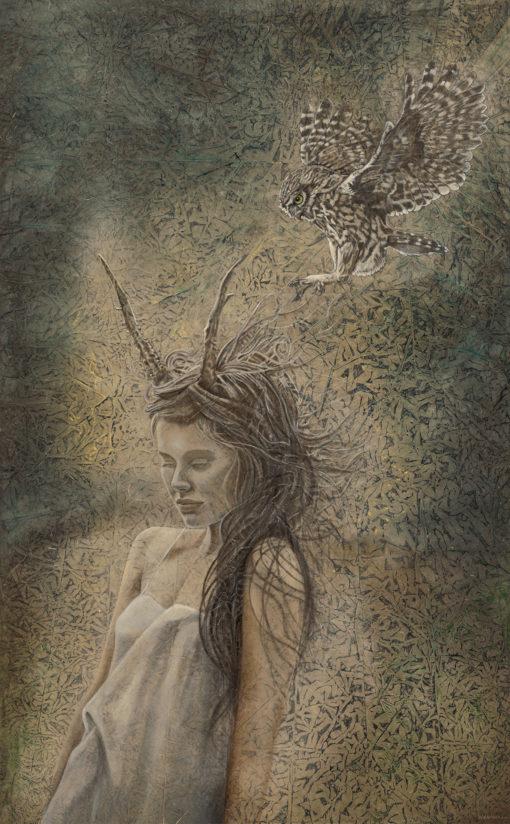 Sanctum_Evolutionary Art_Kimberly-Webber_Contemporary Symbolist Paintings_Magical Realism_Transcendental Art_Archetypal Visionary Artist_Taos New Mexico