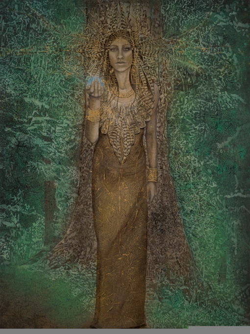 ancient-forest_Kimberly-Webber_Contemporary Symbolist Paintings_Magical Realism_Transcendental Art_Archetypal Visionary Artist_Taos New Mexico