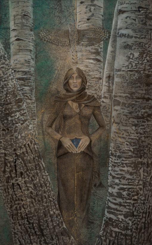 Merkava_Kimberly-Webber_Contemporary Symbolist Paintings_Magical Realism_Transcendental Art_Archetypal Visionary Artist_Taos New Mexico