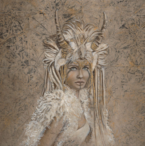 Shamaness_Kimberly-Webber_Contemporary Symbolist Paintings_Magical Realism_Transcendental Art_Archetypal Visionary Artist_Taos New Mexico