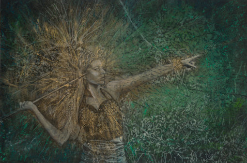 guardian-of-the-forrest_Kimberly-Webber_Contemporary Symbolist Paintings_Magical Realism_Transcendental Art_Archetypal Visionary Artist_Taos New Mexico