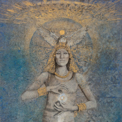 isis-rising_Kimberly-Webber_Contemporary Symbolist Paintings_Magical Realism_Transcendental Art_Archetypal Visionary Artist_Taos New Mexico