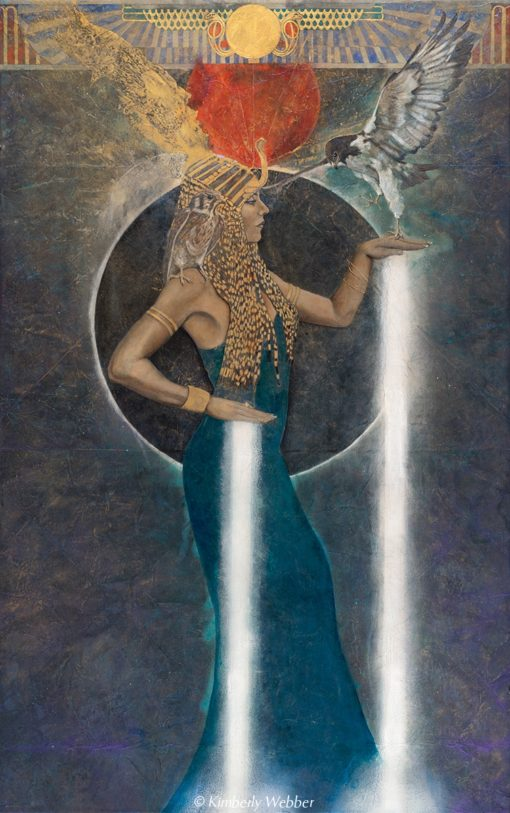 light-echo-isis_Contemporary Symbolist Paintings_Magical Realism_Transcendental Art_Archetypal Visionary Artist_Taos New Mexico