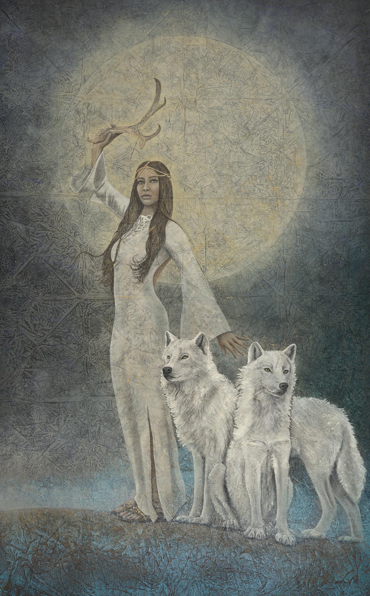 Summoning Powers_Evolutionary Art_Kimberly-Webber_Contemporary Symbolist Paintings_Magical Realism_Transcendental Art_Archetypal Visionary Artist_Taos New Mexico